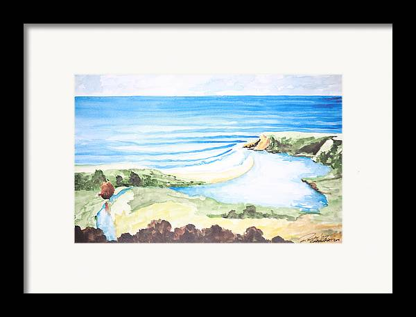 Surf Framed Print featuring the painting Bluebird by Ronnie Jackson