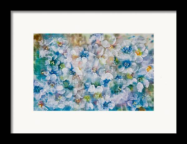 Acrylic Paint Framed Print featuring the painting Bluebonnet by Don Wright