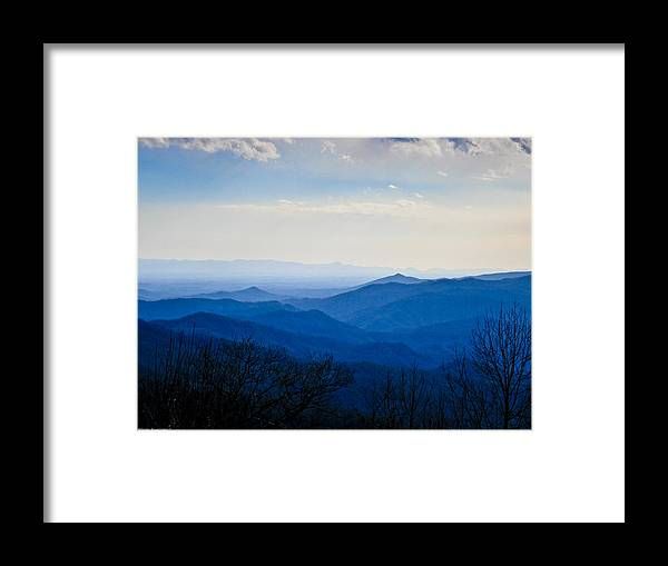Landscape Framed Print featuring the photograph Blueridge by Ches Black