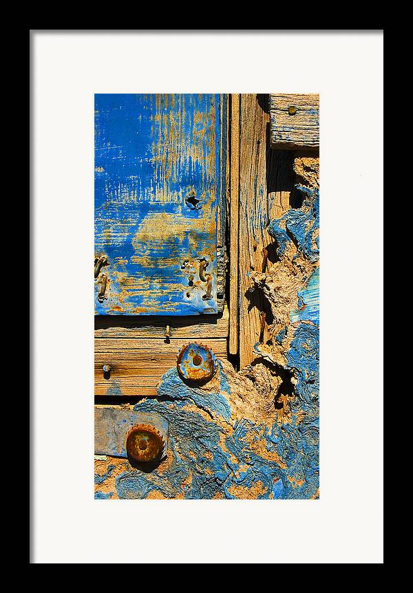 Abstract Framed Print featuring the photograph Blues Dues by Skip Hunt