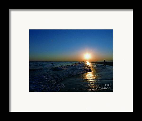 Landscape Framed Print featuring the photograph Blues In The Evening by Kendall Eutemey