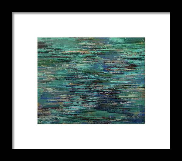Water Framed Print featuring the painting Blues In The Moment by Don Wunderlee