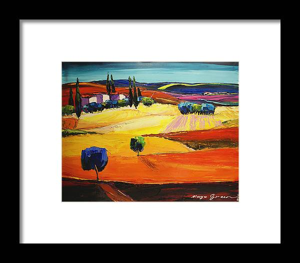 Artwork Framed Print featuring the painting Blues by Maya Green