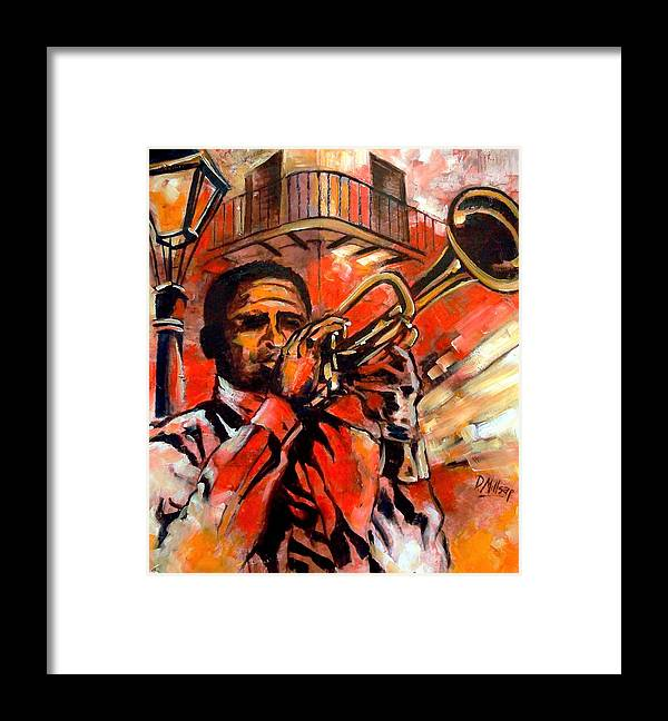 New Orleans Framed Print featuring the painting Blues On Bourbon Street by Diane Millsap