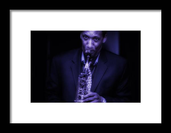 Music Framed Print featuring the photograph Blues by Robert Ullmann