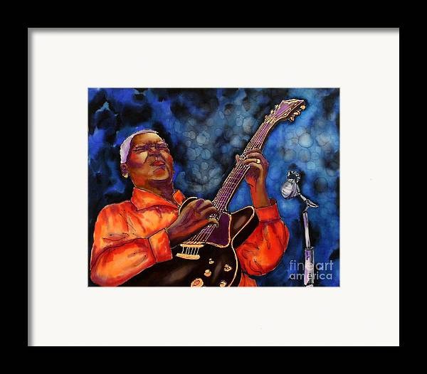 Jazz Framed Print featuring the painting Blues Vibe by Linda Marcille