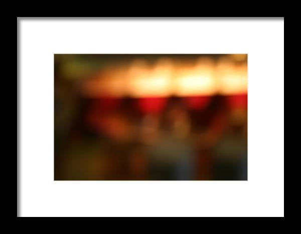 Abstract Framed Print featuring the photograph Blur by R Lewis