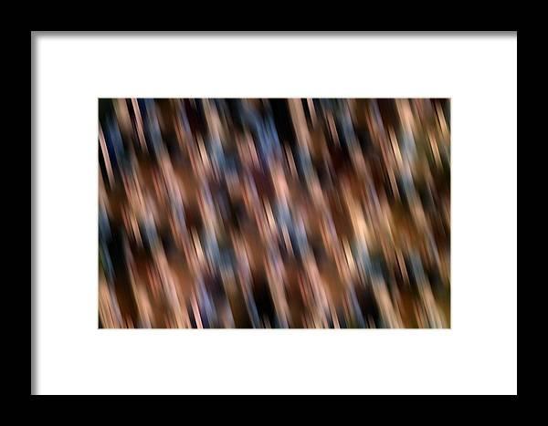 Abstract Framed Print featuring the digital art Blurry Rain by Joshua Sunday