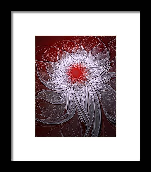 Digital Art Framed Print featuring the digital art Blush by Amanda Moore