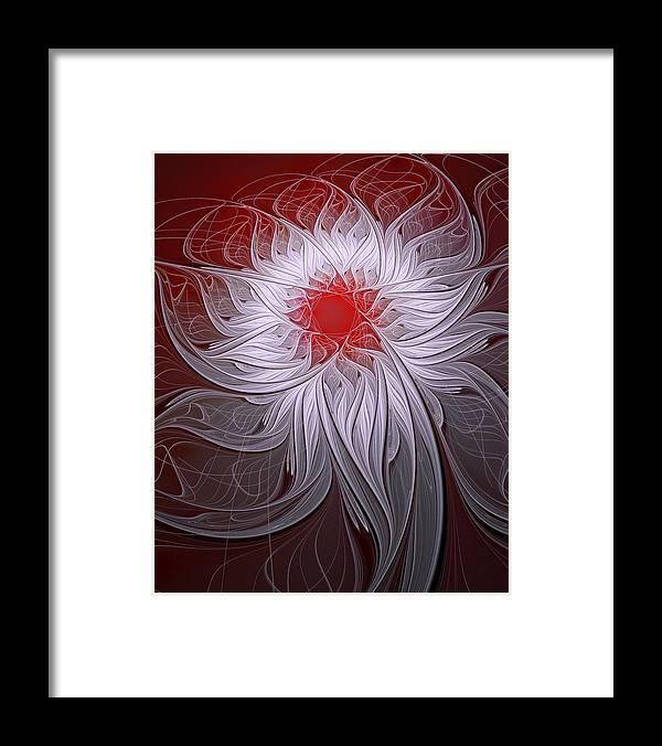 Digital Art Framed Print featuring the digital art Blush by Amanda Moore