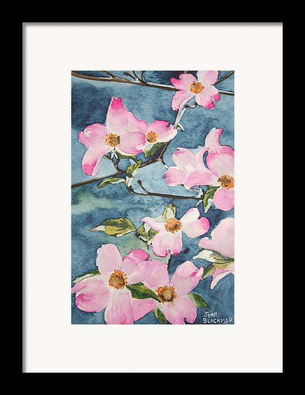 Flowers Framed Print featuring the painting Blushing Prettily by Jean Blackmer