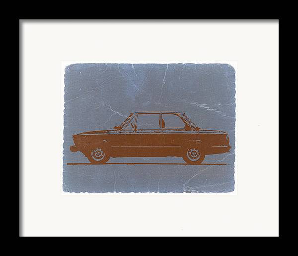 Framed Print featuring the photograph Bmw 2002 Orange by Naxart Studio