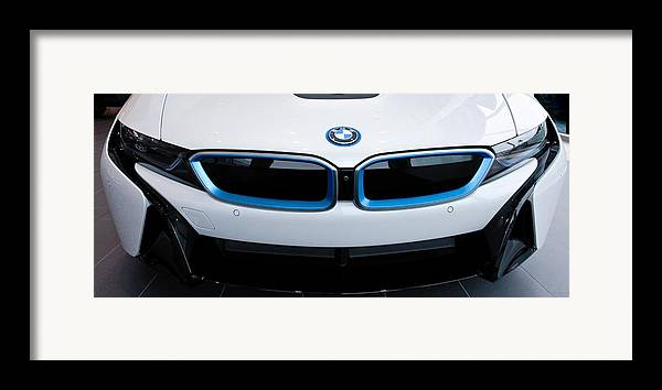 Bmw I8 Framed Print featuring the photograph Bmw E Drive I8 by Aaron Berg