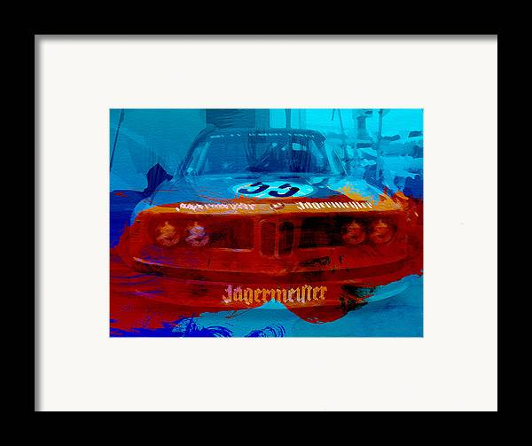 Framed Print featuring the photograph Bmw Jagermeister by Naxart Studio