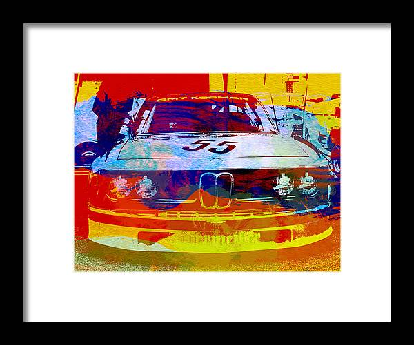Framed Print featuring the photograph BMW Racing by Naxart Studio