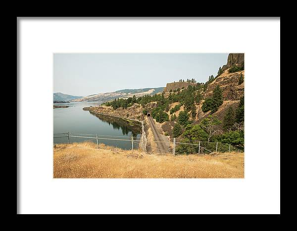 Bnsf Tunnel Framed Print featuring the photograph Bnsf Tunnel by Tom Cochran