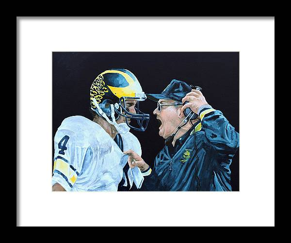 Michigan Framed Print featuring the painting BO Knows by Travis Day
