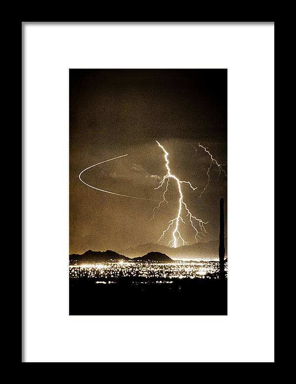 Lightning Framed Print featuring the photograph Bo Trek Lightning Art by James BO Insogna