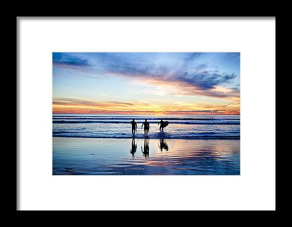 Sunset Framed Print featuring the photograph Board Meeting by Chris Mitzlaff