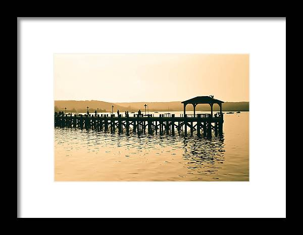 Northport Harbor Framed Print featuring the photograph Boardwalk by Thomas Langton
