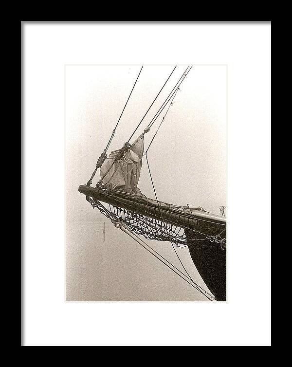Photograph Framed Print featuring the photograph Boat Bow Clipper by Patricia Bigelow