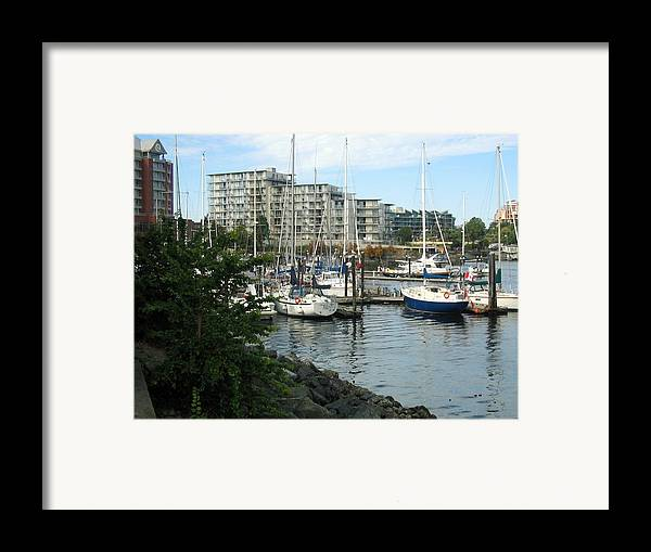 Boats Framed Print featuring the photograph Boat Docks by Bob Gardner