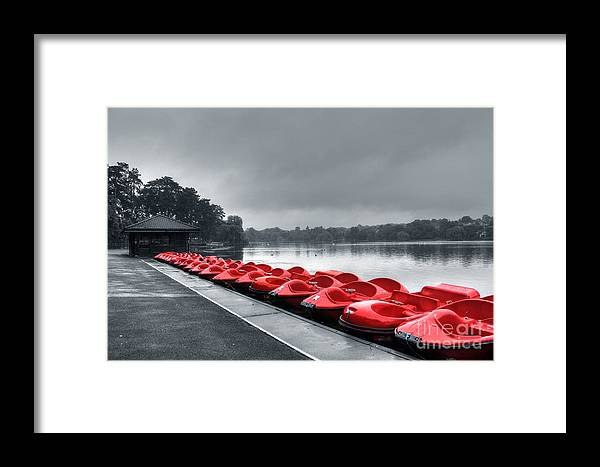 Hdr Framed Print featuring the photograph Boat Hire by Vicki Spindler