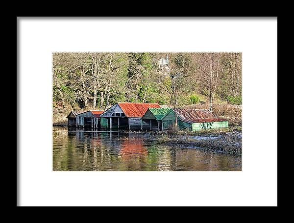 Loch Framed Print featuring the photograph Boat Huts by Sam Smith