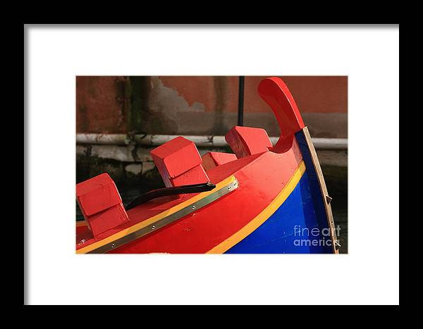 Venice Framed Print featuring the photograph Boat In Venice by Michael Henderson