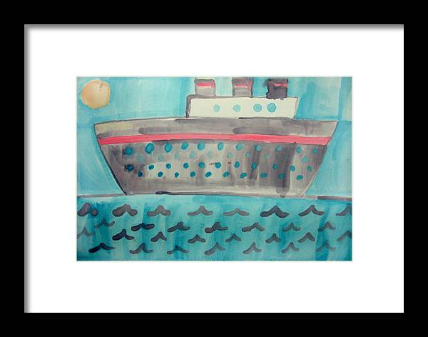 Boat Framed Print featuring the painting Boat by Sean Cusack