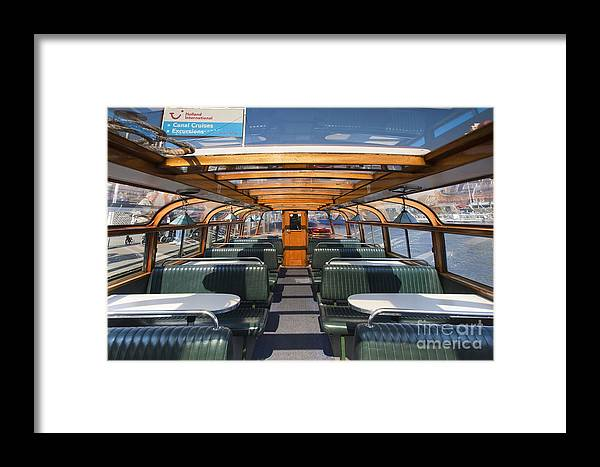 Age Framed Print featuring the photograph Boat Trip In The Channles Of Amsterdam by Andre Goncalves