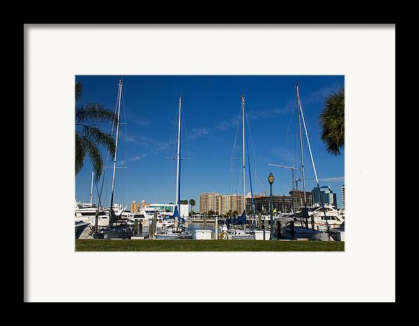 Marina Jacks Framed Print featuring the photograph Boater's Paradise by Michael Tesar