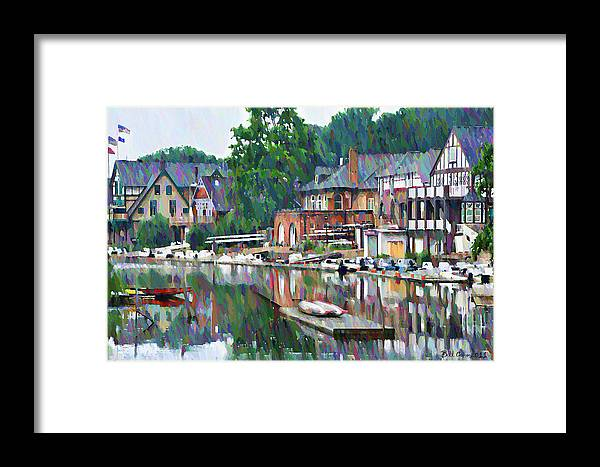 Boathouse Framed Print featuring the photograph Boathouse Row In Philadelphia by Bill Cannon