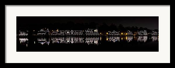 boathouse Row Framed Print featuring the photograph Boathouse Row Panorama - Philadelphia by Brendan Reals