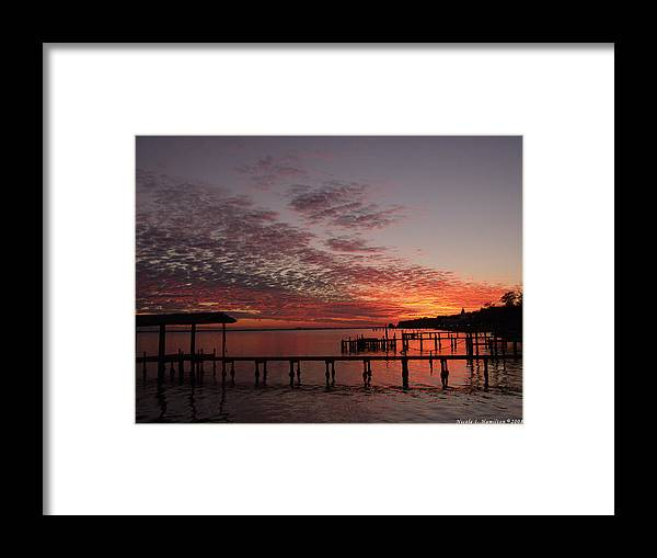 Boathouse Framed Print featuring the photograph Boathouse Sunset by Nicole I Hamilton