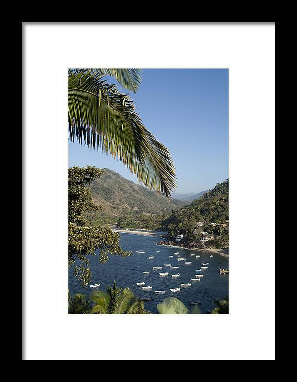 Mexican Framed Print featuring the photograph Boats And Beach In Yelpa by Carl Purcell
