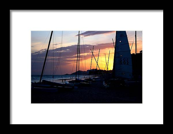 Boats Framed Print featuring the photograph Boats At Rest by Bob Gardner