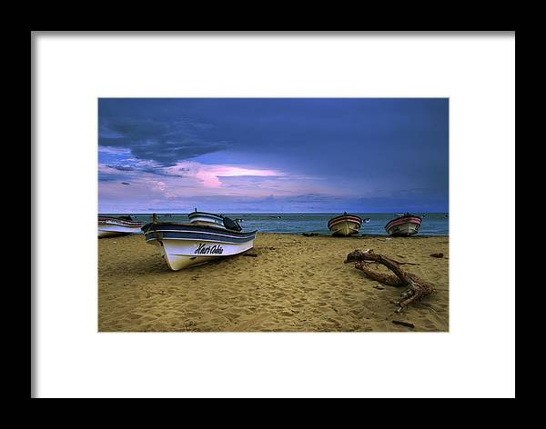 Beach Framed Print featuring the photograph Boats In Pedasi by Iris Greenwell