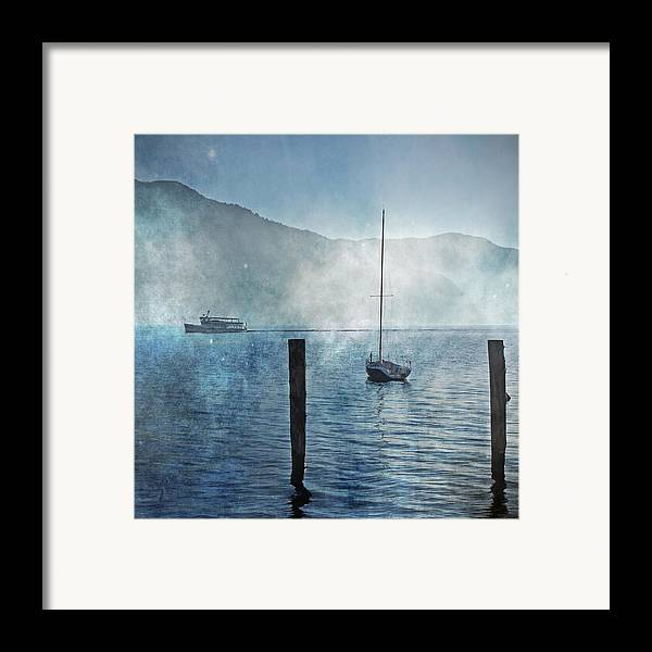 Fog Framed Print featuring the photograph Boats In The Fog by Joana Kruse