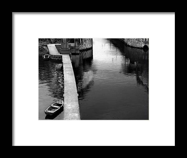Boat Framed Print featuring the photograph Boats In The Rain by Todd Fox