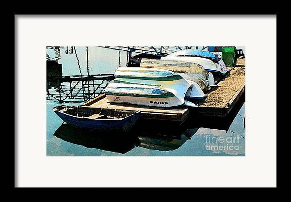 Boats Framed Print featuring the photograph Boats In Waiting by Larry Keahey