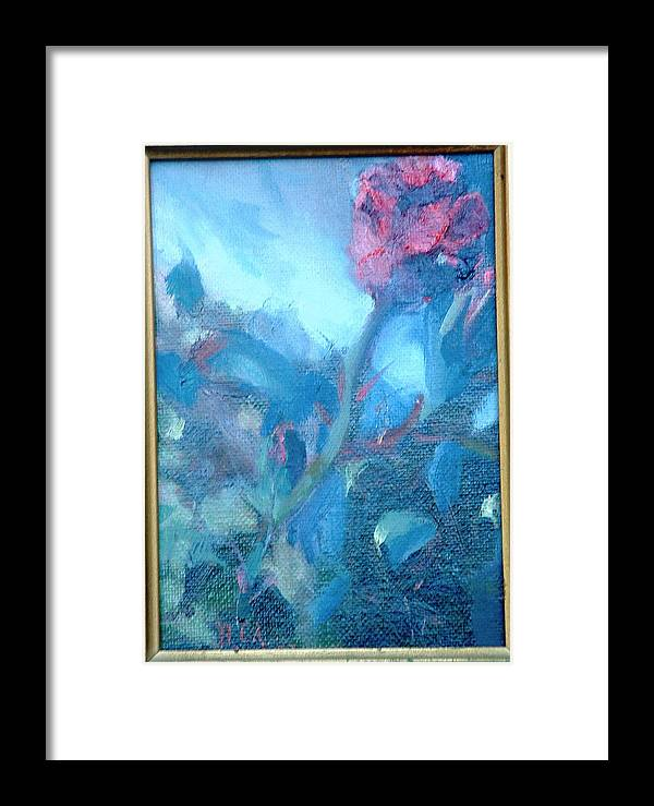 Still Life Framed Print featuring the painting Bob Hope Rose by Bryan Alexander