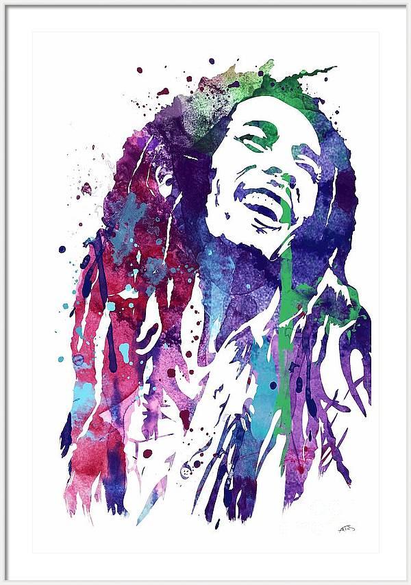 Bob Marley 3 Watercolor Print by Svetla Tancheva
