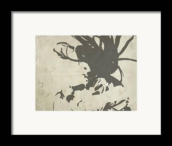 Bob Marley Framed Print featuring the painting Bob Marley Grey by Naxart Studio