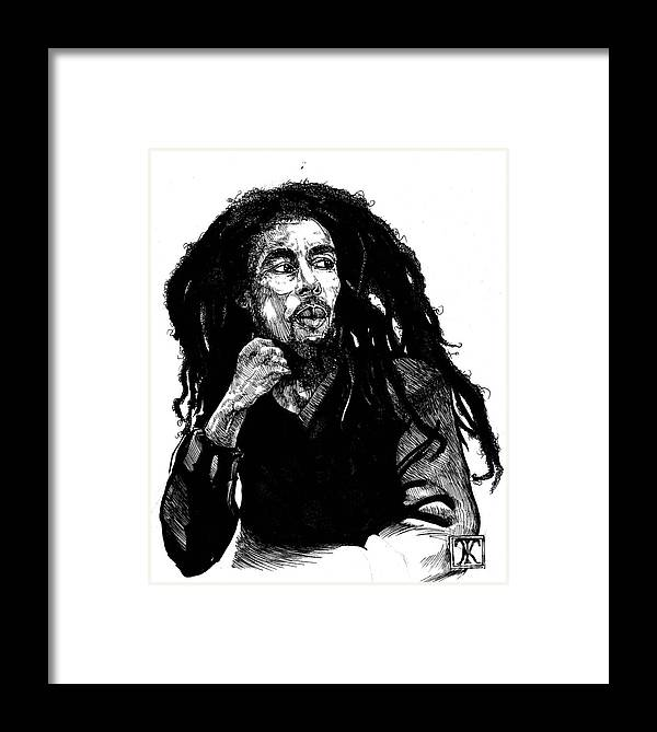 Bob Marley Framed Print featuring the painting Bob Marley by Keith Thurman