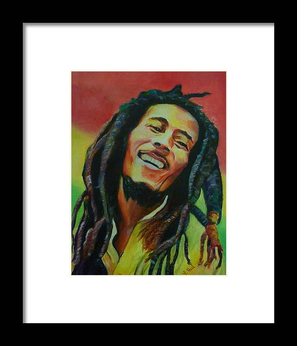 Bob Marley Framed Print by Lesley Paul