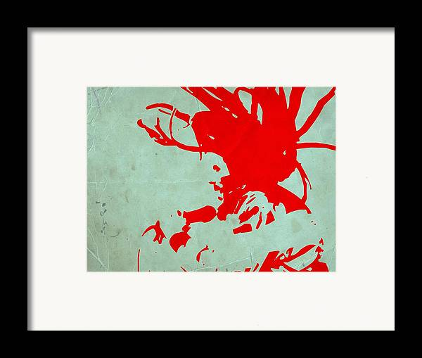 Framed Print featuring the painting Bob Marley Red by Naxart Studio