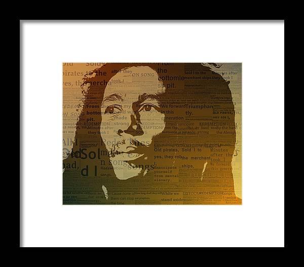 Bob Marley Redemption Song Framed Print