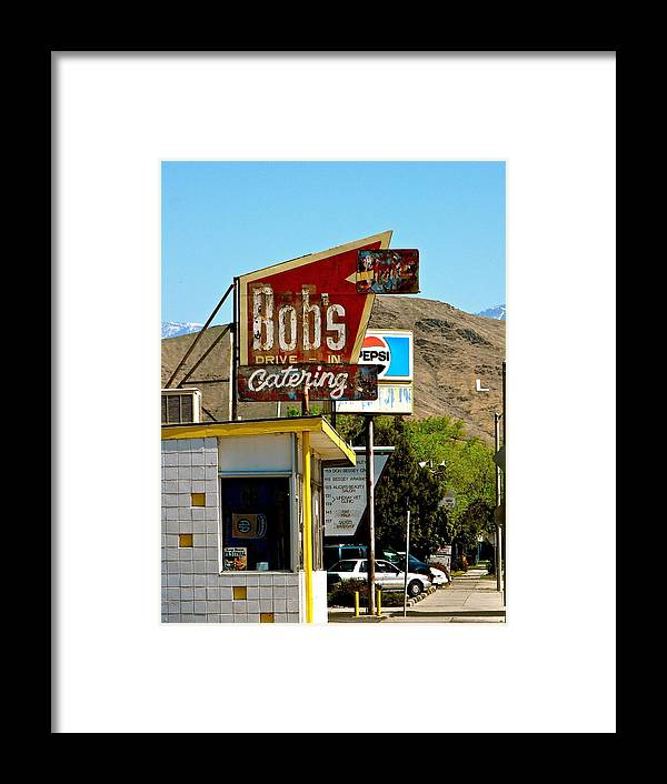 Signs Framed Print featuring the photograph Bobs Caterting by Sherry Hutsell