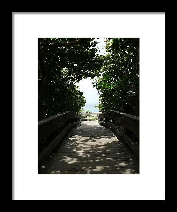 Florida Framed Print featuring the photograph Boca Beach Boardwalk by Florene Welebny